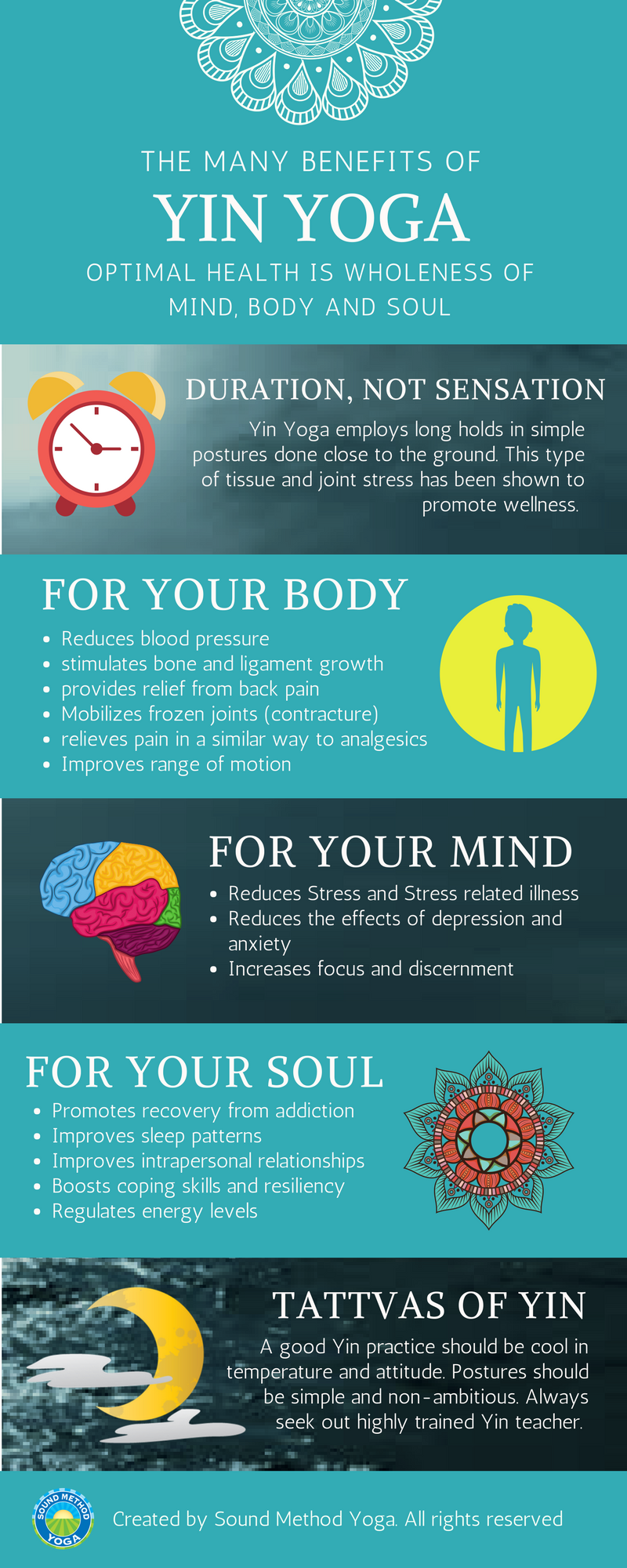 Benefits of Yin Yoga Infographic