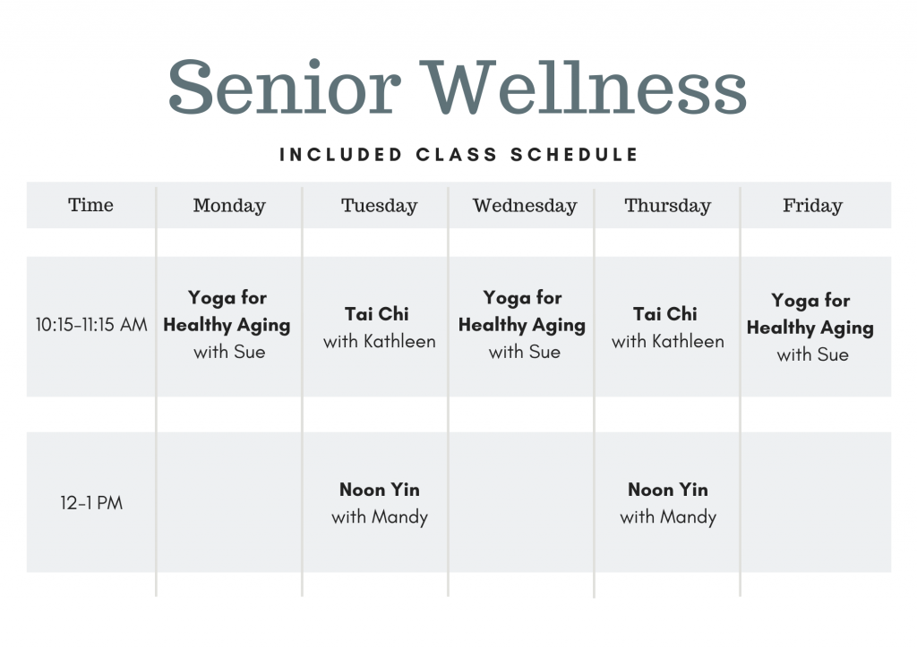 Senior Wellness Class Schedule Omaha