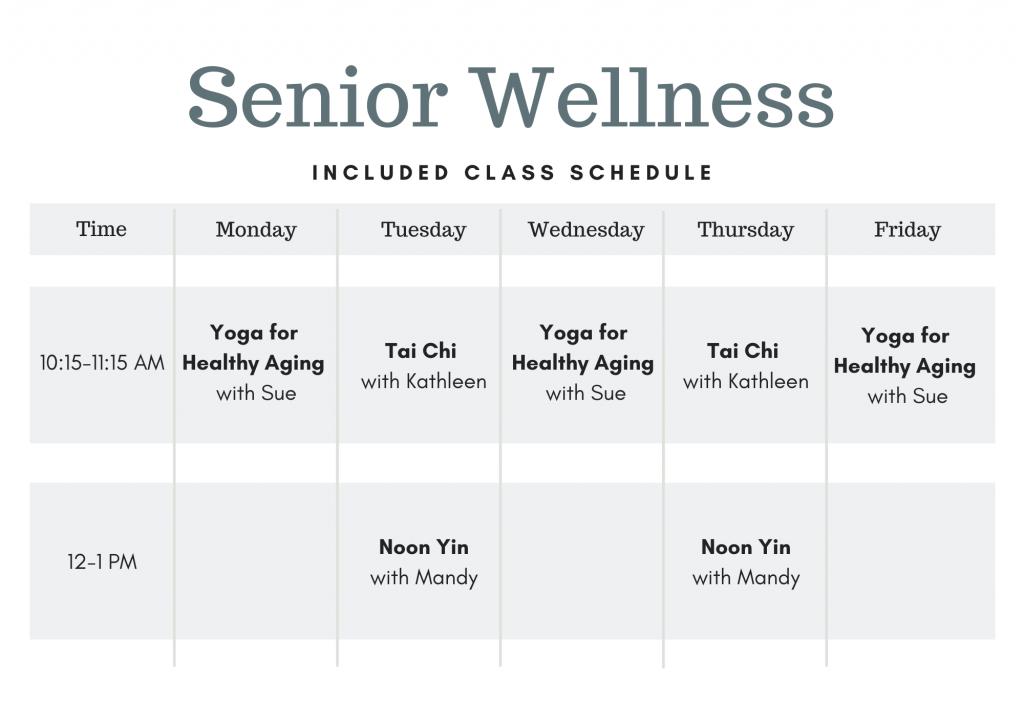 Senior Wellness Class Schedule Omaha